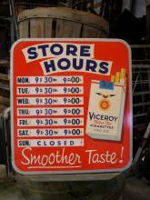 Sign Viceroy Cigarettes