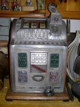 Antique oak Slot machine
